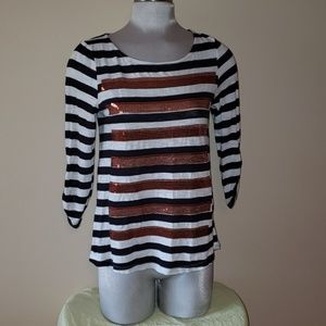 9 h15 stcl Anthropologie striped top (SMP29)